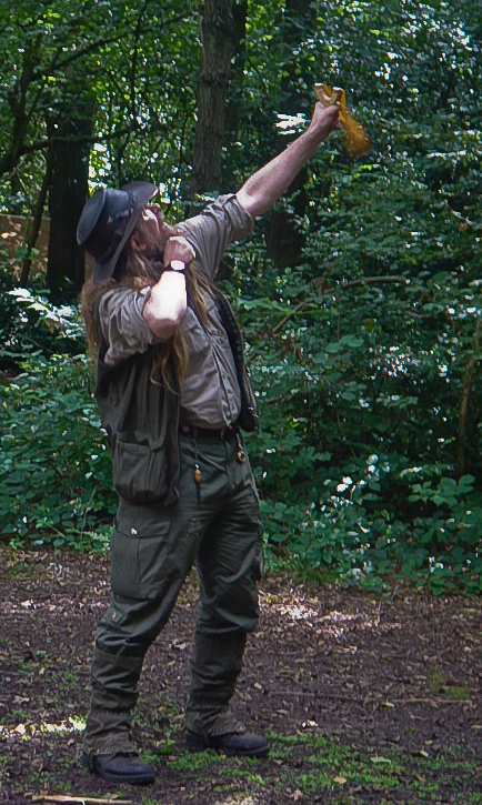 Using a catapult to shoot a line over a high branch (Thanks to MartinK9 for the use of the picture.) - © 2017 - Gary Waidson - Ravenlore