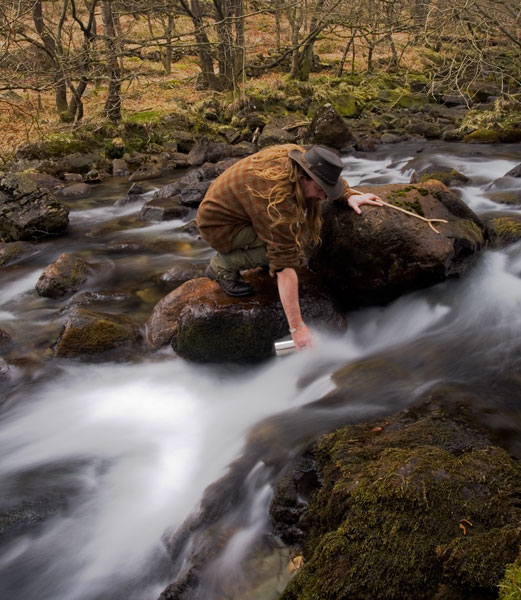 Mountain streams provide water that often only needs a quick boil to be useable.