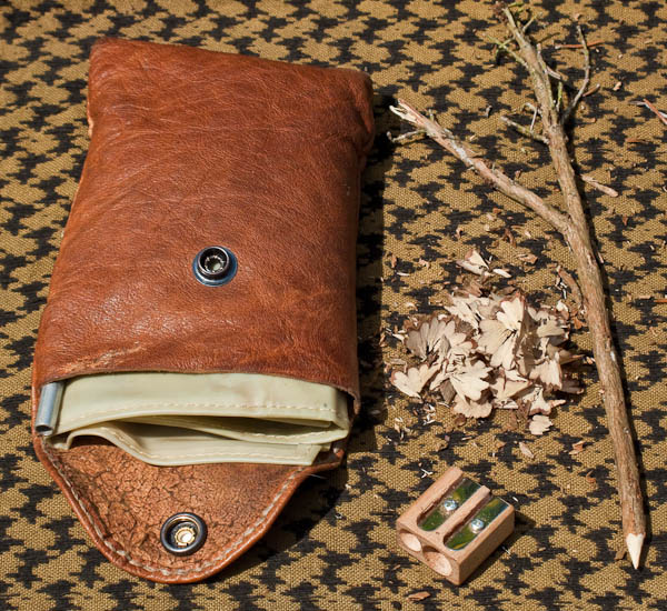 My tinder pouch, blowpipe and pencil sharpener