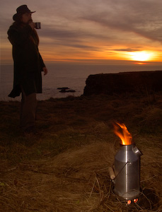 A volcano kettle is a fast self contained boiler for water perfect for bushcraft and wilderness use.